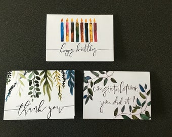 FREE SHIPPING! Greeting Cards with a Conscience (Happy Birthday, Thank you, Congratulations)