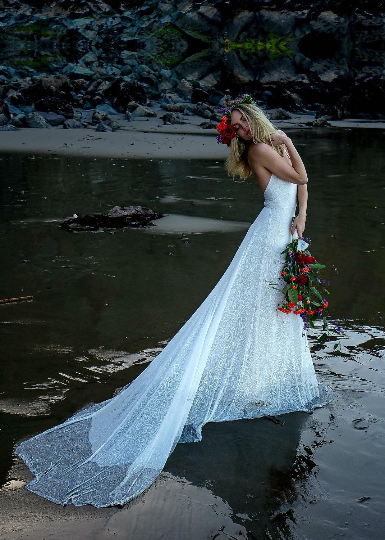 Boho Wedding Dress Hippie Wedding Dress Flower Child Wedding