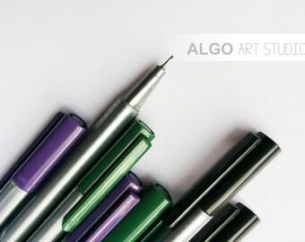 Pens, Fineliner Pens, Dry Safe Pens, Pens for Wedding Tree, Pens for Guestbook, Wedding Tree Guestbook pen, Scrapbooking Pens, Set of 2 pens
