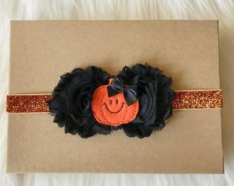 Halloween Headband, Halloween Baby Headband, Baby Headband, Baby Girl Headband, Infant Headband, Newborn Headband, Holiday Headband, Baby