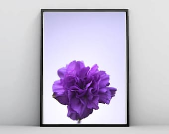 Purple Flower Photography, Minimal, Floral, Printable Download, Decor, Wall Art