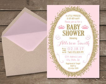 Baby Showers Invitaciones ~ Elephant baby shower invitation its a girl elephant