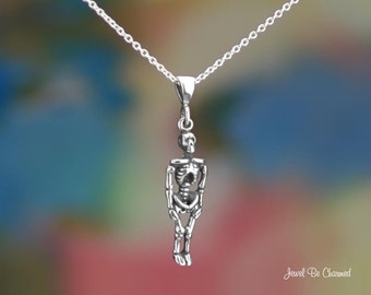 "Sterling Silver Skeleton Necklace 16-24"" Chain or Pendant Only .925"