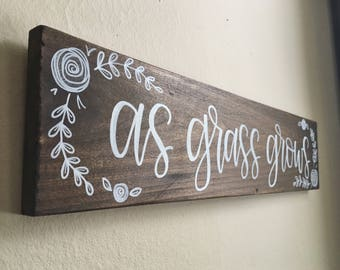 Custom Hand-Lettered Wooden Sign | Made to Order | Wall Decor