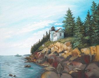 Bass Harbor Lighthouse, Bar Harbor Maine - Print