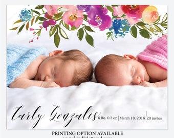 Newborn Photo Card Birth Announcement-Baby Announcement-Newborn Photo Card-Birth Announcement-Baby Photo Card