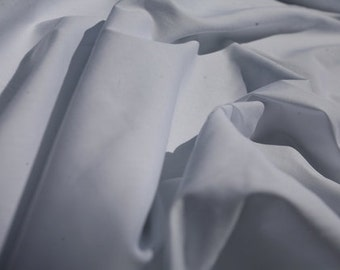 "White Cotton Stretch Poplin Fabric 48"" Wide Per Yard"