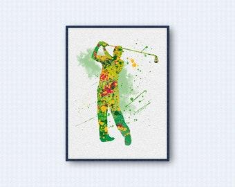 Golf Watercolor Poster