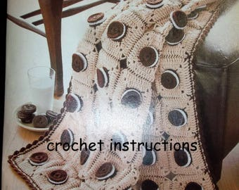 Crocheted Sandwich Cookie Afghan Pattern - Easy To Make