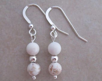 magnesite earrings sterling silver dangle