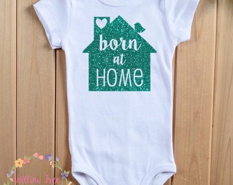 Born at Home Infant Bodysuit, Birdie on Roof, Infant T-shirt, Toddler T-shirt, Home Birth Advocacy, Natural Birth, Midwife, Doula