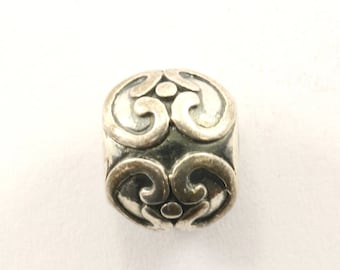 Vintage Ornament Bead Charm Sterling 925 CH 400