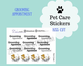 Dog Grooming Appointment Planner Stickers