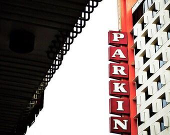 Parking - Roadside Sign Photograph