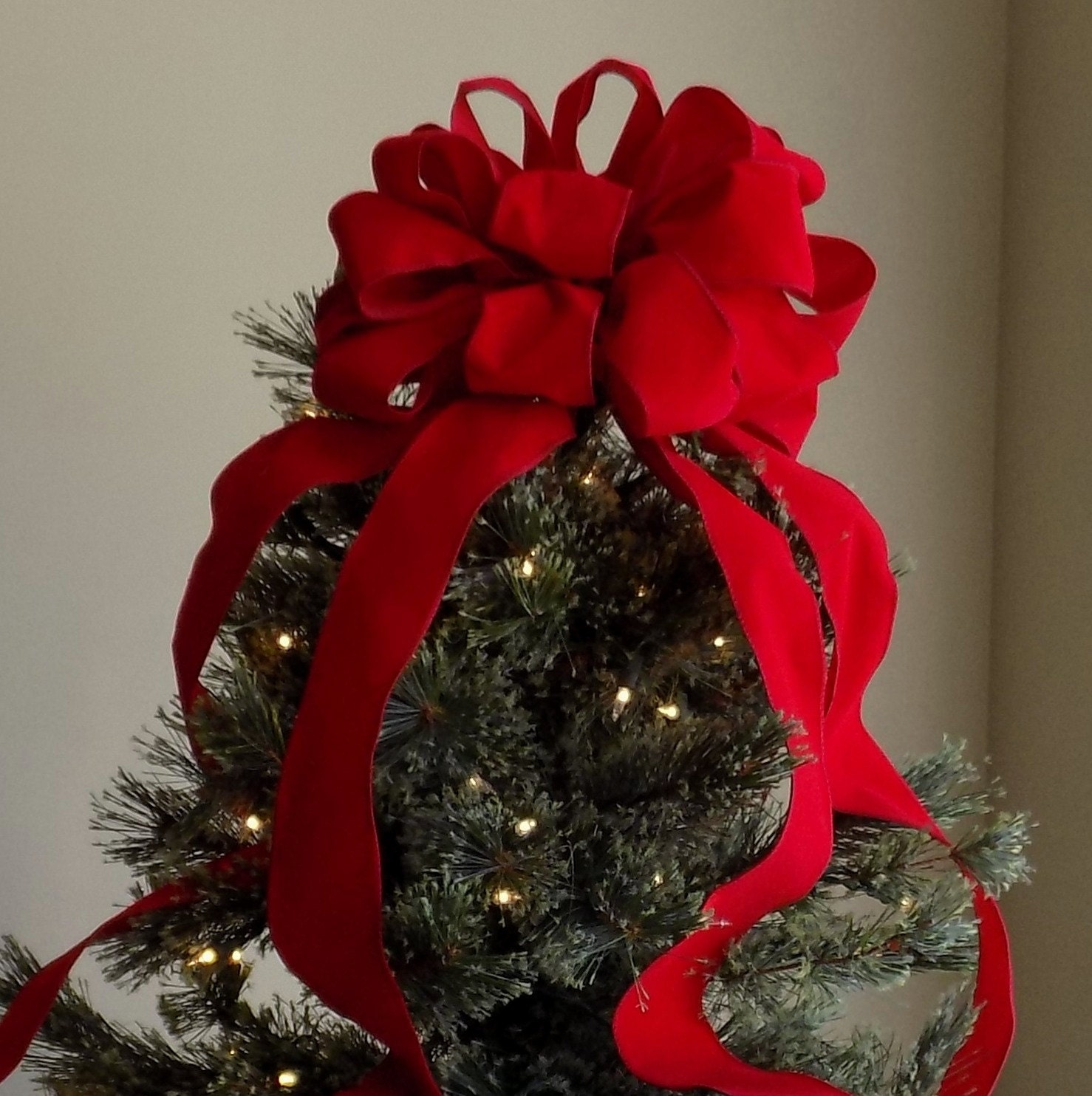 how to make a bow for my christmas tree