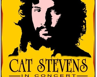Cat Stevens 1971   Concert POSTER  toronto    beautiful!!!!