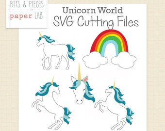 SVG Cutting File: Unicorn World, Unicorn SVG, Fantasy SVG