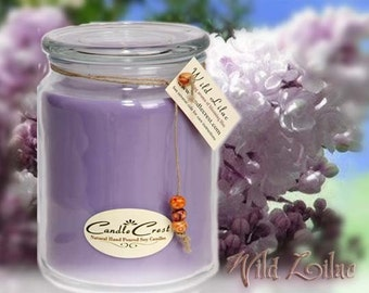 Lilac Soy Candles, Spring Lilac Scented Candles, Hand Poured 100% Soy Wax Candles
