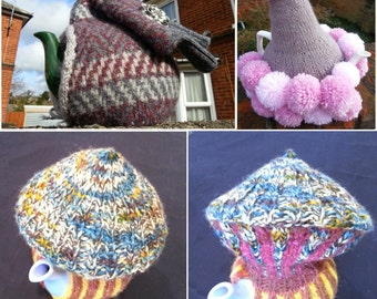 Ready To Ship: Handknit magnificent, quirky and cosy tea cozy in various designs for your tea party