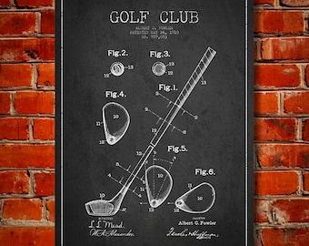 1910 Golf Club Patent, Canvas Print,  Wall Art, Home Decor, Gift Idea
