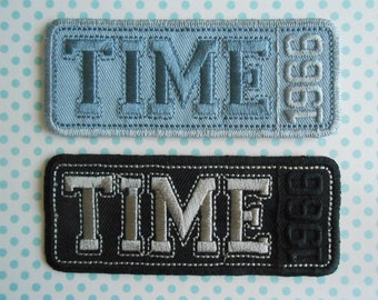 Iron on Embroidered Patches Set of 2