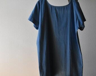 Chambray Tee Dress
