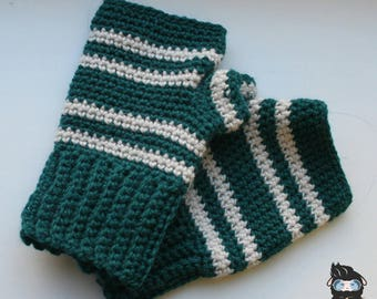 Slytherin inspired mitts