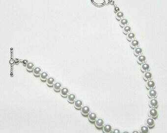 Pure White Pearls Wedding Bridal Bracelet