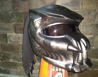 Fancy Predator Helmet Street Fighter Mix Carbon and Roving Material  - DOT Approved