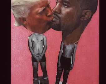 Kanye and trump Collage art