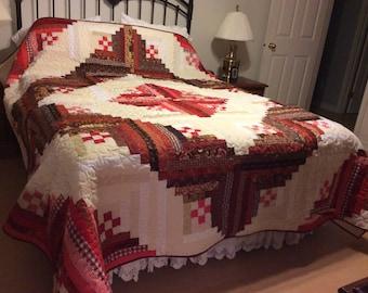 Log cabin quilt