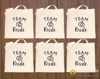 SET of Bridal Tote bags ~ Bridesmaid gift set ~ Choose your set ~ Bachelorette tote bags ~ Custom canvas tote ~ Wedding tote bags ~ Totes