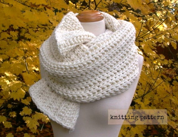 Fishermans Daughter Scarf Easy Knitting Pattern Chunky