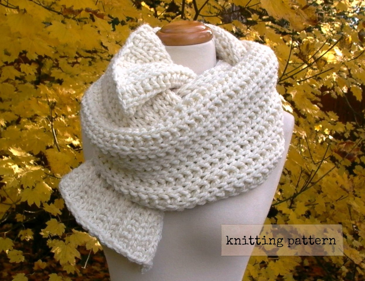 fisherman\'s daughter scarf easy knitting pattern . chunky knit scarf ...