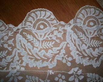 Antique hand done lace piece