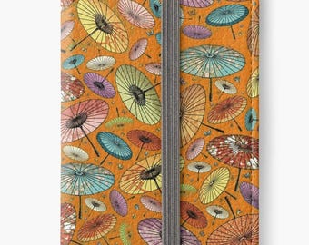 Folio Wallet Case for iPhone 8 Plus, iPhone 8, iPhone 7, iPhone 6 Plus, iPhone SE, iPhone 6, iPhone 5s - Japanese Parasol Pattern Case