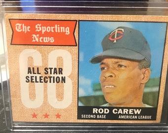 1968 Topps Sporting News All Star Rod Carew