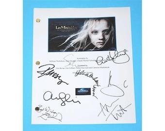 Les Miserables 2012 Movie Screenplay Script Autographed: Hugh Jackman, Anne Hathaway, Russell Crowe, Amanda Seyfried, Sacha Baron Cohen