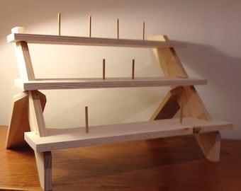 Three Level Display Shelf / Ladder Shelf / Collapsible Display Shelves / Free Standing Display Stand for Craft Fairs