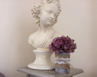 Shabby Chic Tin Can Hydrangea Flowers