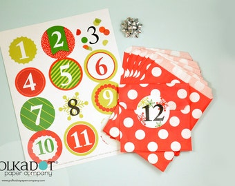 12 Days of Treat Bags Holiday Countdown Calendar