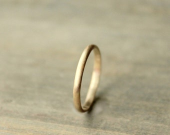 "Gold Wedding Ring Solid 14 k Gold Band Anniversary Band Yellow Gold Palladium White Gold Rose Gold Stacking Ring--""Timeless"""