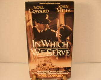 VHS Tape, In Which We Serve, Noel Coward, John Mills, B & W, Full Screen, Free Shipping