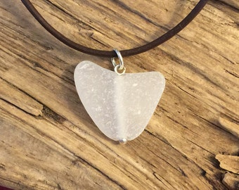 Sea glass jewelry- sea glass heart