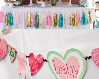 Hugs and Kisses PRINTABLE Party Collection - You Customize EDITABLE TEXT >>Instant Download | Paper and Cake