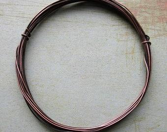 24 gauge Antiqued Copper Dead Soft Round Wire - 10 feet