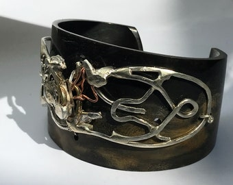 Sciamanno Bracelet in bone and Silver 925 handmade vm attanasio