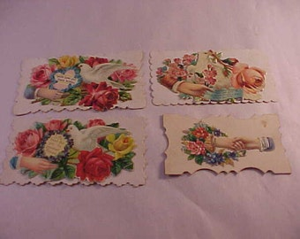 Victorian Die Cut Lithographed Hidden Name Calling Cards