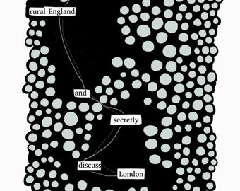 Rural England-Blackout Poetry C-Print by Staunch Studio 8x10