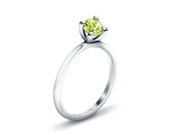 Plain Peridot - Peridot Silver Rings, Peridot Jewelry, Peridot Ring, Peridot Ring Silver, Stackable Ring, Stack Rings